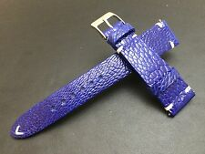 Real Ostrich leg Leather Watch Strap for Luxury watch (20mm/16mm) - Ocean Blue
