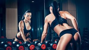 Workout, brunette  poster Laminated waterproof photo home
