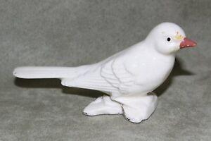 """Vintage Standing Bird Figurine White Porcelain 5"""" x 2 ½"""""""