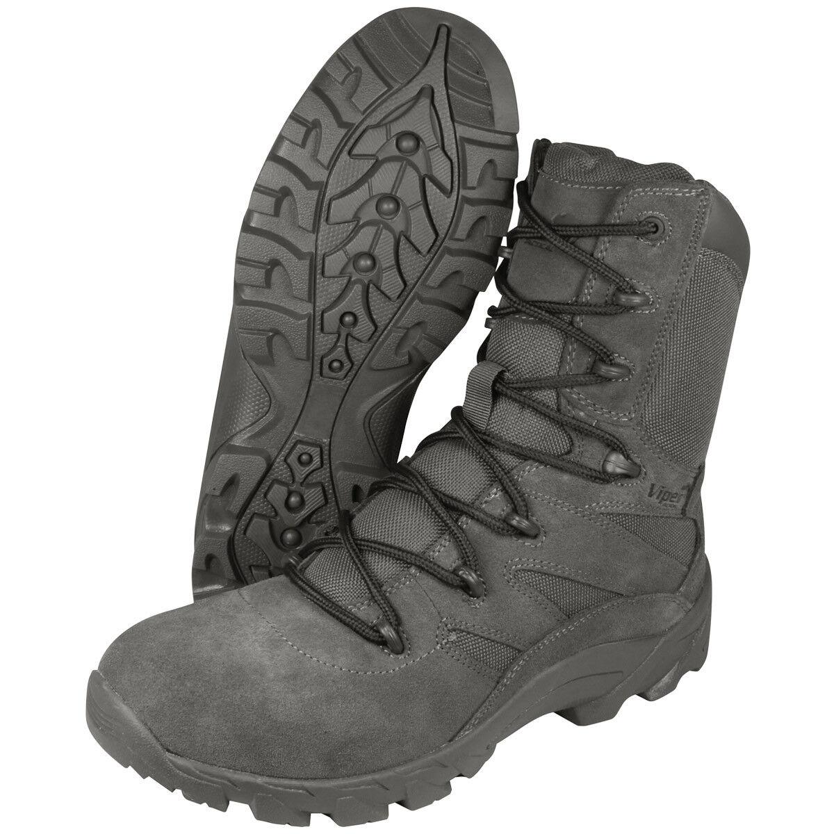 Viper Verdeckt Herren Taktisch Stiefel Armee Militär Schuhwerk Titanium Grau