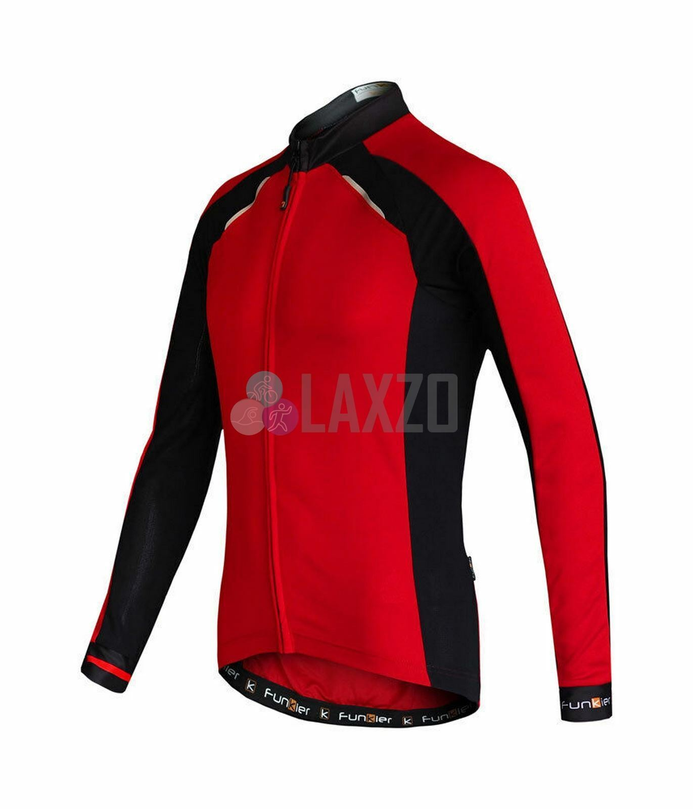Ciclismo in jersey a maniche lunghe Funkier TALANA Gents RossoNero J730LW XXLarge