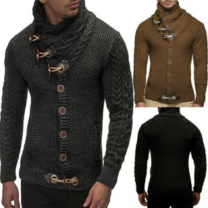 Men-Chunky-Cardigan-Thick-Sweater-Casual-Knitwear-Jumper-Coat-Jacket-Outwear-Top