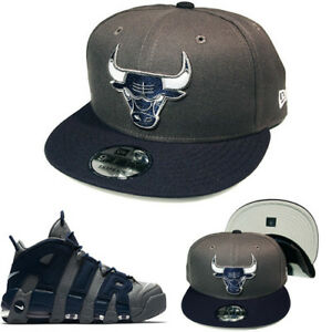 New Era Chicago Bulls Snapback Hat Air More Uptempo Cool Grey ... 0bd5c01552b7