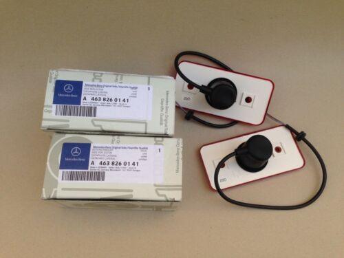 02-2014 MERCEDES G500 G550 G55 G63 REAR RED SIDE MARKER LIGHT LAMP LENS SET OEM