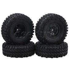4pcs 1.9inch Disc Wheel Rim 115mm Rubber Tyre for 1 10 Rock Crawler