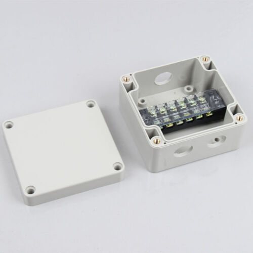 1pc 6 terminal ABS waterproof junction box Outdoor cable box  One into two wires