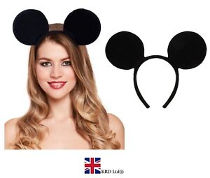 MICKEY-MOUSE-EARS-HEADBAND-Fancy-Dress-Disney-Spotted-Ladies-Kids-Boys-Girls-UK