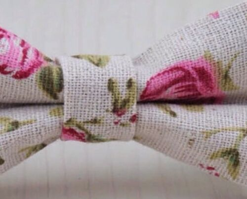 UK. Great Reviews Children/'s Kids Boys Pink Floral Elasticated Cotton Bow Tie