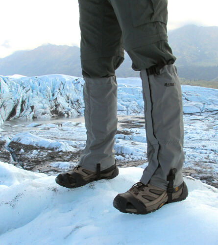 Fleece Lined Winter Gaiters Snow Gaiters Water Resistant Mountain Gaiters