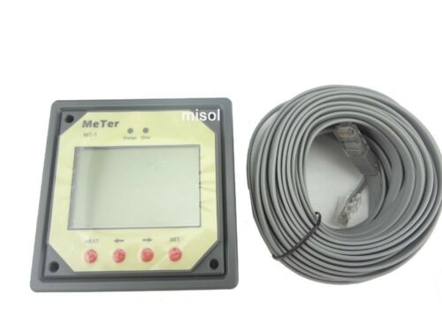 for duo battery two battery MT1 Remote meter LCD display for solar regulator