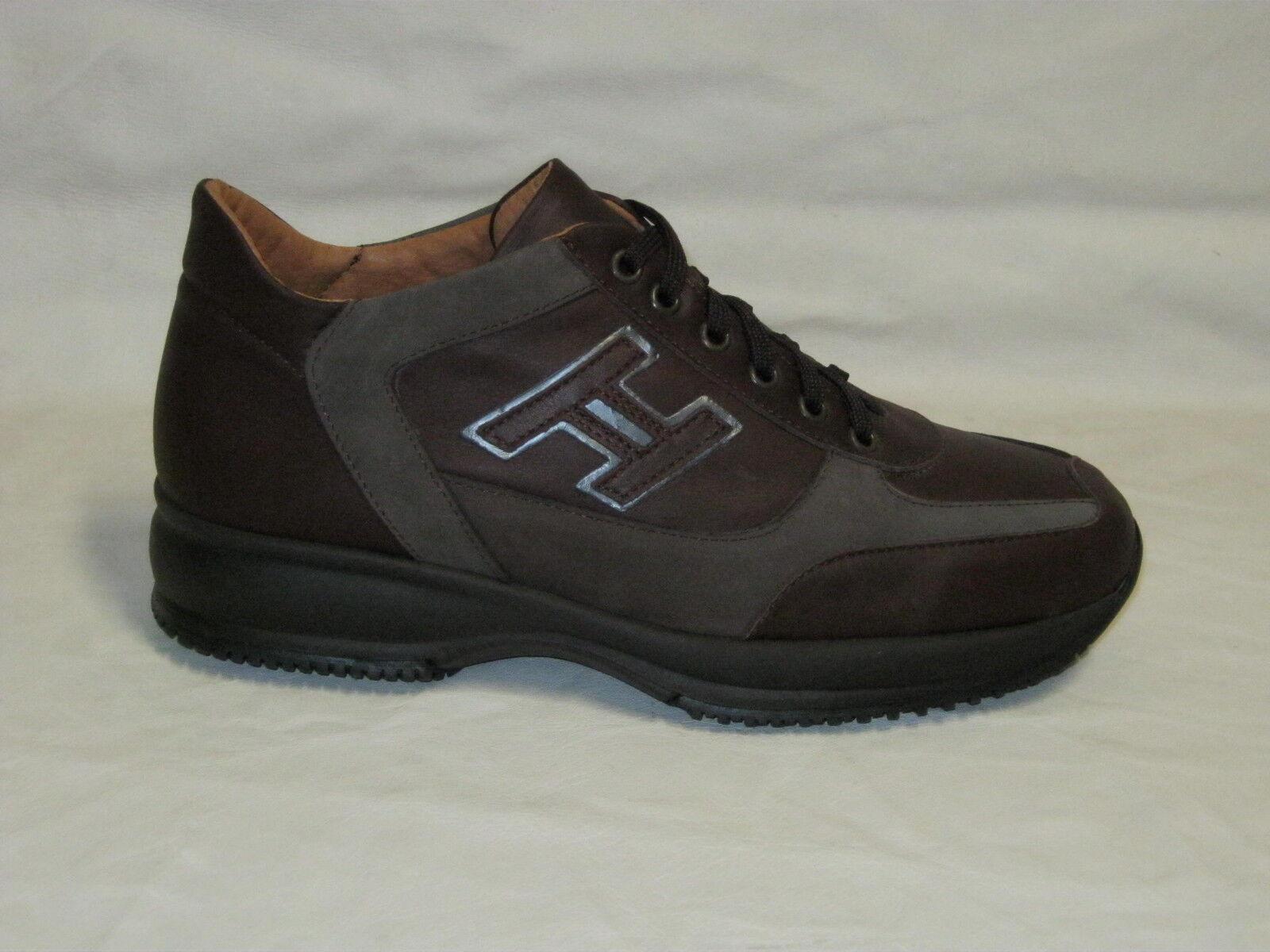 Saldi sneakers in pelle di vitello e nabuk col. brown scuro N°35-36-37-45