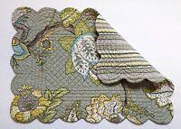 C&f Nottingham Floral 13 X 19 Quilted Cotton Placemat