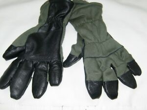 Intermediate-Cold-Flyer-Gloves-Hunter-Green-Black-Fingers-Size-7