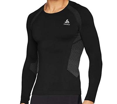 Odlo Herren Shirt L//S Crew Neck Essentials Seamless Ski-Unterhemden