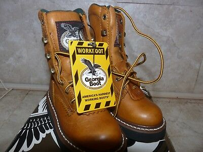 13f697b056c New Georgia Boot Kids Lacer G213 Tan Lace Up Work Boots You Choose Size  Leather | eBay