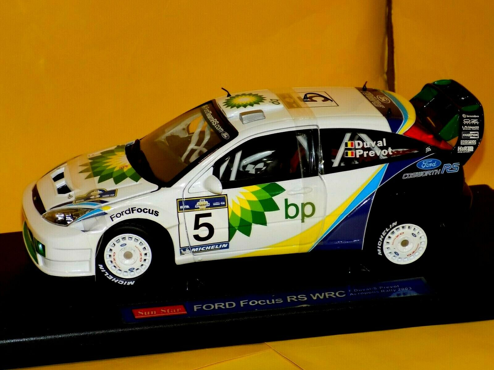 Ford Focus RS WRC  5  Acropolis 2003 Duval Prevot  Sunstar 3902 1 18