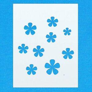 Détails Sur Fleur Motif Forme Imprimer Mylar Aérographe Peinture Wall Art Crafts Pochoir 3 Afficher Le Titre D Origine