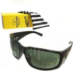 d4a2e46633 PALOOKA Von Zipper PAPA-G Sunglasses GLOSS BLACK Surf GREY POLARIZED ...