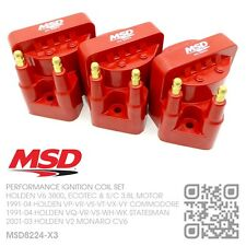 MSD BLASTER IGNITION COIL SET V6 ECOTEC 3.8L [HOLDEN VS-VT-VX-VY COMMODORE] RED