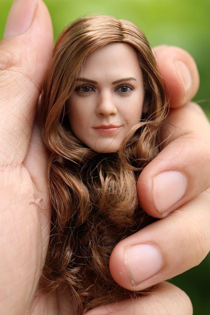 1 6 Female Head Sculpt Hermione Emma Watson Gril Head Model F 12'' Action Figure
