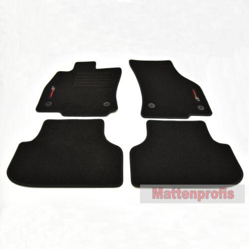 Mattenprofis Velours Logo Fußmatten für Seat Leon III 5F ST Kombi ab Bj.2013