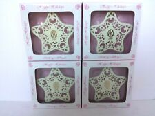 Marie Osmond Happy Holidays 2002 Porcelain Snowflake Ornament New In Box