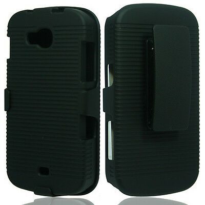 Shell Case Cover Black Reasonable Samsung Galaxy Axiom R830c Admire 2 Belt Clip Holster Cases, Covers & Skins