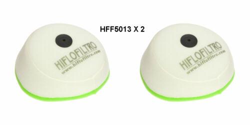 KTM 250 SX SXS SXF HIFLOFILTRO AIR FILTER FITS 2005 TO 2007  HFF5013  X 2