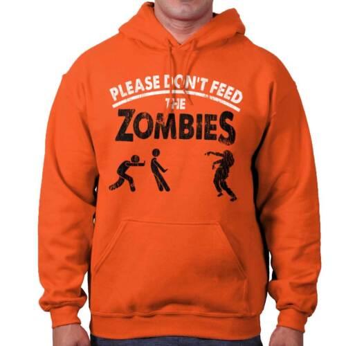 Please Dont Feed Zombie Shirt Walking Shambler Dead Trick Hooded Sweatshirt