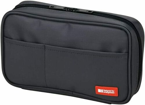 NEW Lihit Lab Pen Case Black A7551-24 Japan Fast Shipping