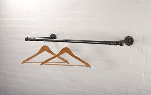 Wall Mounted Clothes Rail - Vintage Style - Made from Industrial Pipe Fittings!