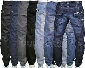 Enzo-EZ-Mens-Designer-Regular-Fit-Straight-Leg-Denim-Jeans-28-034-48-034-BNWT