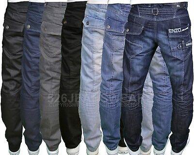 Enzo Mens Designer Branded Washed Denim Shorts Darkwash//Stonewash//Bleach BNWT