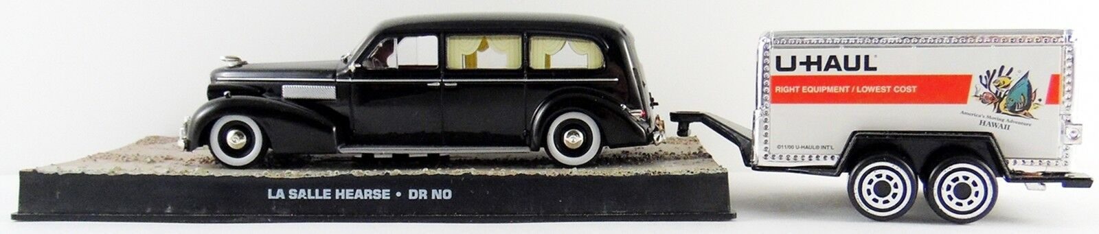 1930's La Salle James Bond Hearse from Dr.No 1 32 Scale  w   U-Haul Trailer