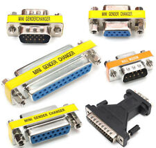 D-Sub Gender Changer Adaptor Coupler RS232 Serial or VGA or Null Modem CHOICE
