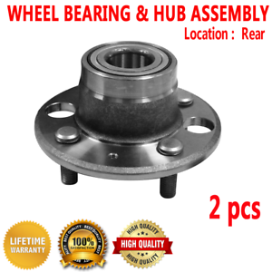 Included with Two Years Warranty - Two Bearings Left and Right Note: FWD 4-Wheel ABS 1999 fits Acura Integra Rear Wheel Bearing and Hub Assembly