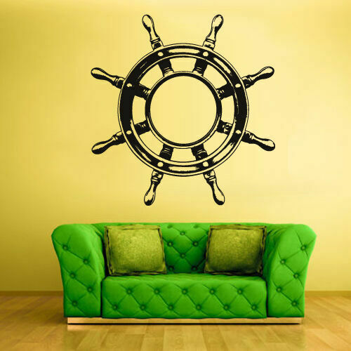 Z1287 Wall Decal Vinyl Sticker Decals Wheel Steering Ship Boat