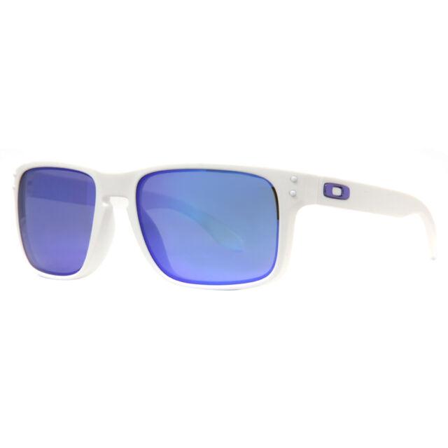 Oakley Holbrook OO9102-05 Matte White/Violet Iridium Lenses Mens Sunglasses 55mm