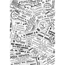 Crafty Individuals Vintage Ads Unmouted Rubber Stamp