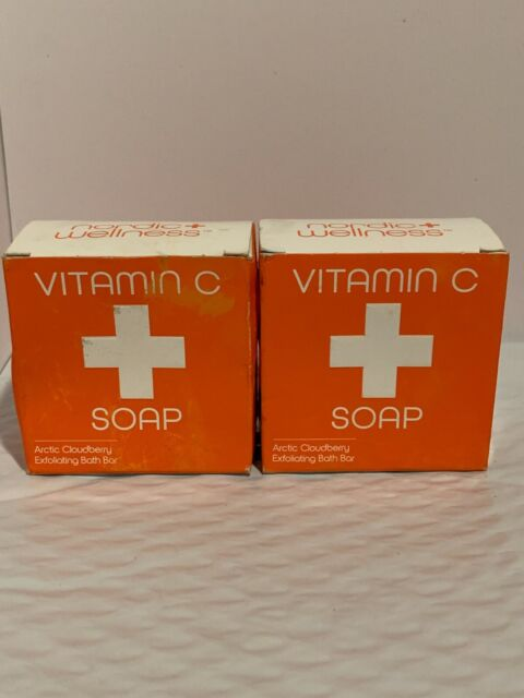 2 PACK~VITAMIN C SOAP~Arctic Cloudberry~Exfoliating Bath Bar~4.3 oz X 2