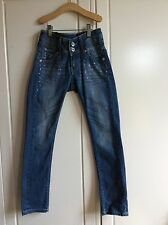 Gorgeous VINGINO girls' jeans diamond-studded, size 9, immaculate condition