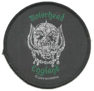 MOTORHEAD-england-2004-circular-8-5cms-WOVEN-SEW-ON-PATCH-no-longer-made-LEMMY