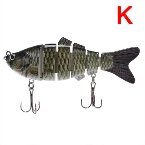 Fishing Lure 10cm 6-Segment Fishing Hard Lure Crankbait With 2 Hook Fishing BaEC
