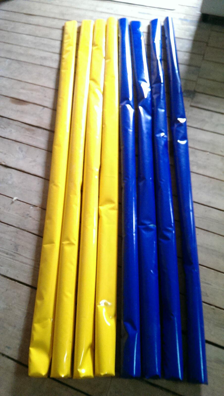 8x Bodenarbeits Stangen gefült 4 Blau Gelb 4 Gelb Blau 3,1m Trabstangen ähnlich Dualgassen f286bc