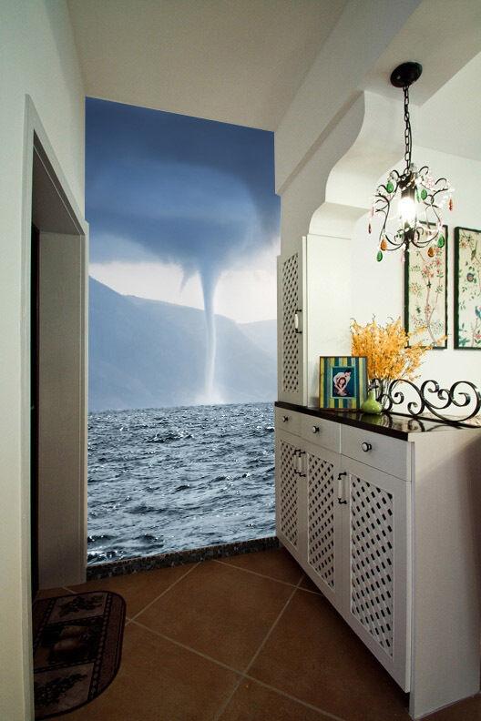 3D Tornado River Lake Wall Paper Wall Print Decal Wall AJ WALLPAPER CA