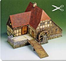 Wassermühle 1:87 Spur H0 Bastelbogen Kartonmodell J.F. Schreiber