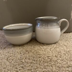 Noritake Sierra Twilight Creamer and sugar bowl (no lid) 8667 Stoneware Vintage