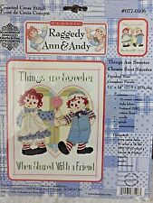 NEW Janlynn THINGS ARE SWEETER Counted Cross Stitch Kit Raggedy Ann & Andy