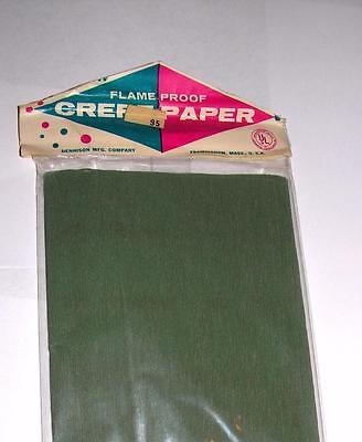 Crepe Paper Rope 1 RARE VTG 1930/'S UNUSED ROLL DENNISON GREEN W FREE HOW TO CD