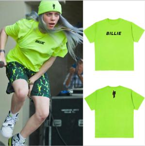Billie Eilish Peripherie T Shirt Schriftzug Top Kurzarm Ebay